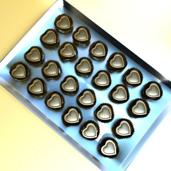 šokolādes konfektes sortiments augstas res 3d modelis max obj 132460