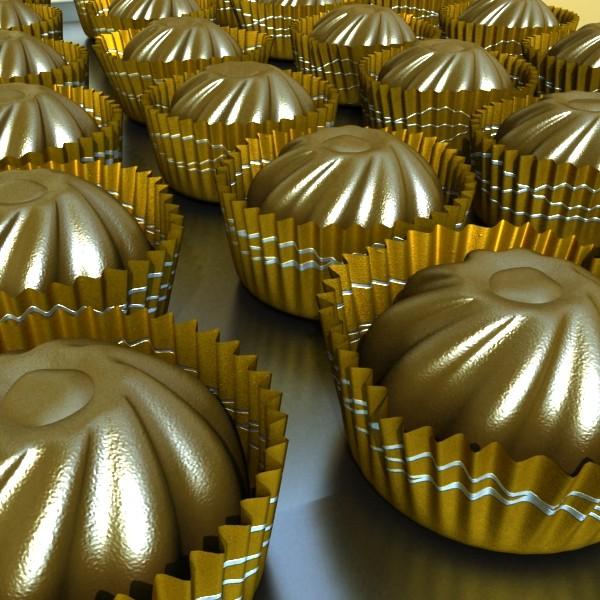 šokolādes konfektes sortiments augstas res 3d modelis max obj 132466