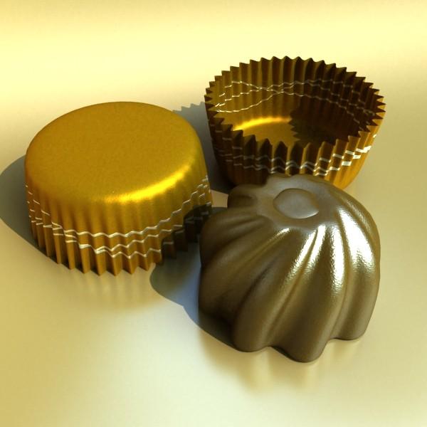šokolādes konfektes sortiments augstas res 3d modelis max obj 132467