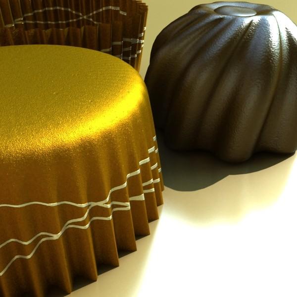 šokolādes konfektes sortiments augstas res 3d modelis max obj 132468