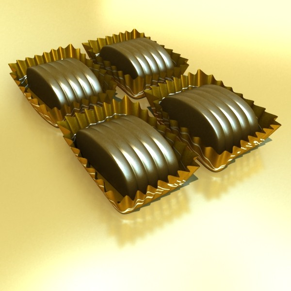 šokolādes konfektes sortiments augstas res 3d modelis max obj 132474