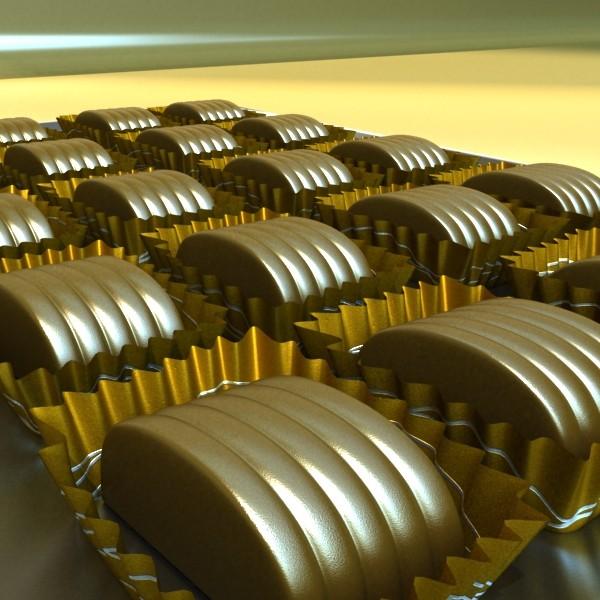 šokolādes konfektes sortiments augstas res 3d modelis max obj 132475