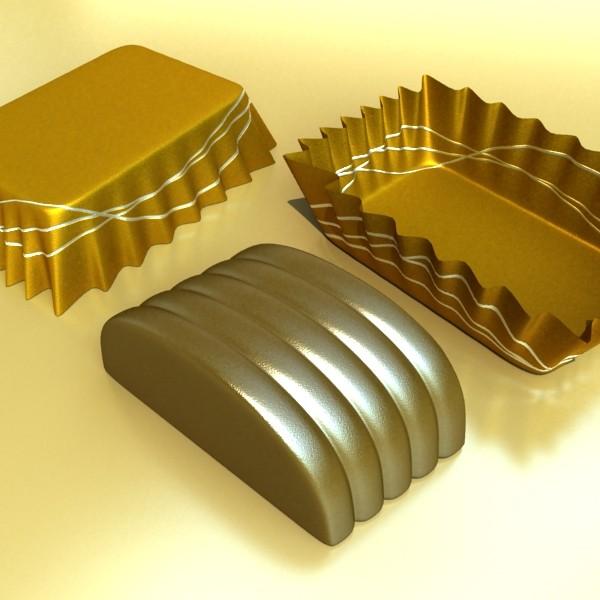 šokolādes konfektes sortiments augstas res 3d modelis max obj 132476