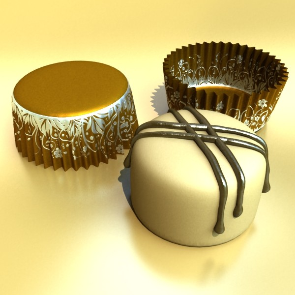 šokolādes konfektes sortiments augstas res 3d modelis max obj 132482