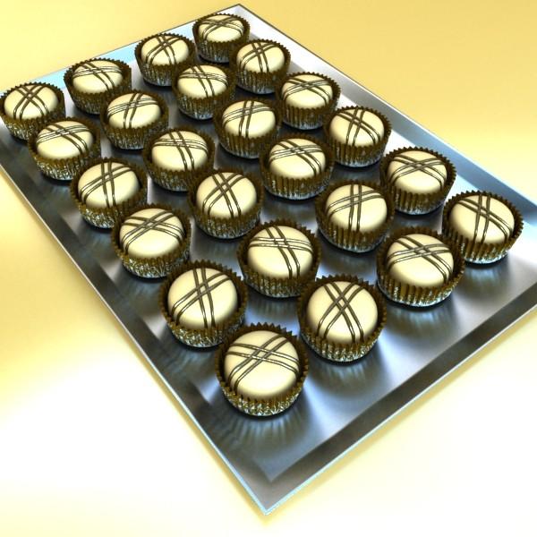 šokolādes konfektes sortiments augstas res 3d modelis max obj 132483
