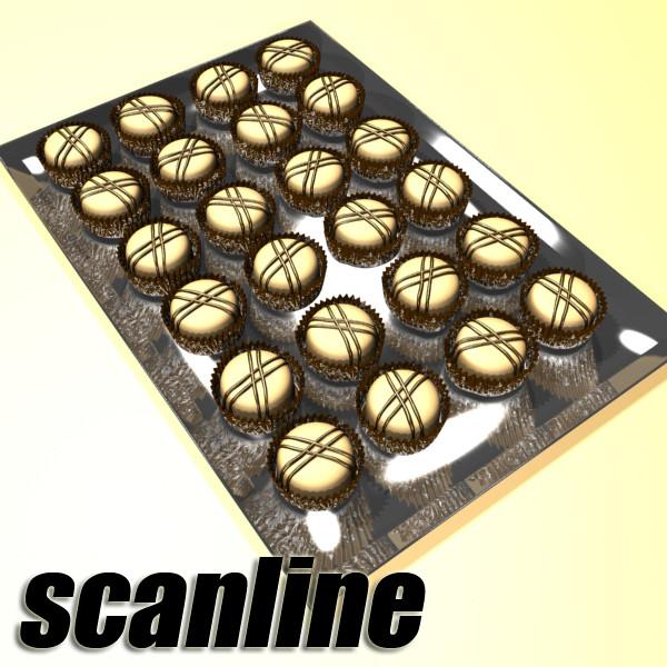 šokolādes konfektes sortiments augstas res 3d modelis max obj 132484