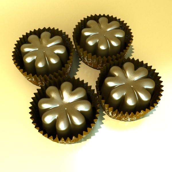 šokolādes konfektes sortiments augstas res 3d modelis max obj 132489