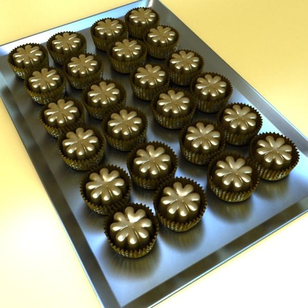 šokolādes konfektes sortiments augstas res 3d modelis max obj 132490