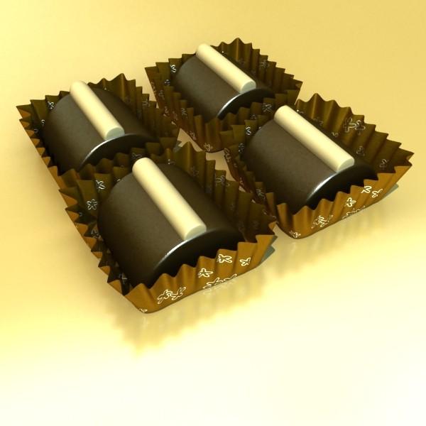 šokolādes konfektes sortiments augstas res 3d modelis max obj 132494