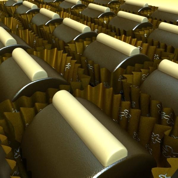 šokolādes konfektes sortiments augstas res 3d modelis max obj 132496