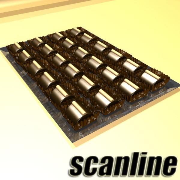 šokolādes konfektes sortiments augstas res 3d modelis max obj 132498