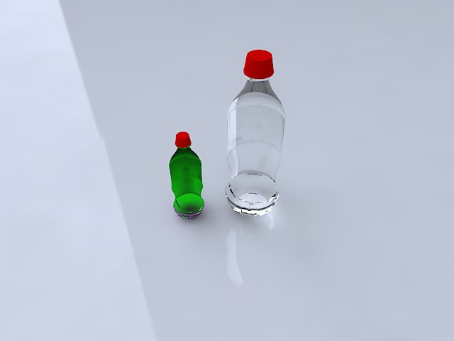 coke bottle 3d model ma mb obj 124739