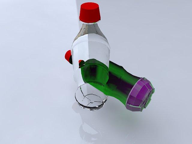 coke bottle 3d model ma mb obj 124740