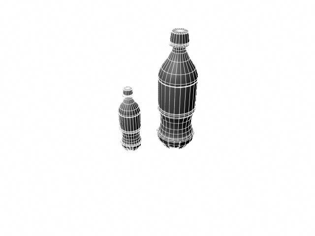 coke bottle 3d model ma mb obj 124741