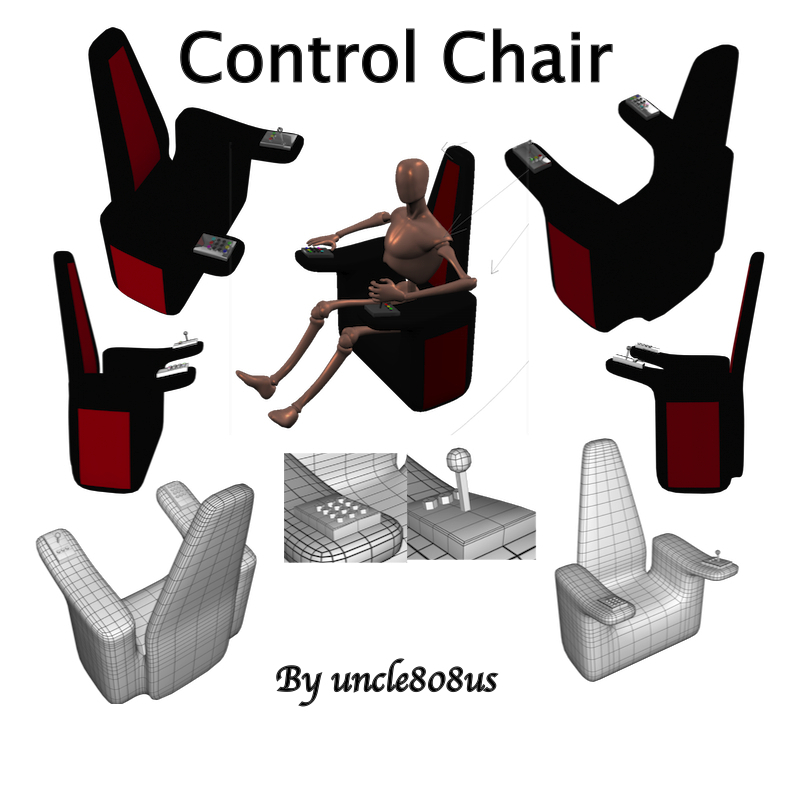 control chair 3d model obj 158487