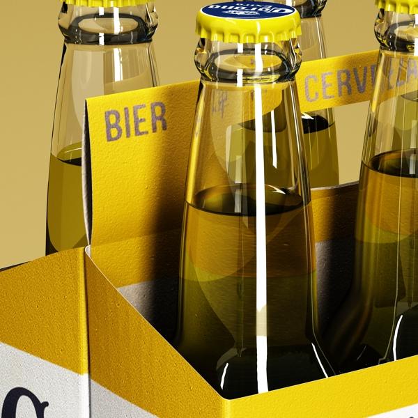 corona bjór flaska - 6 pakki 3d líkan 3ds max fbx obj 141104