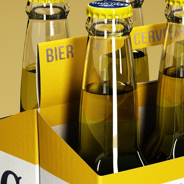 corona beer bottle – 6 pack 3d model 3ds max fbx obj 141104