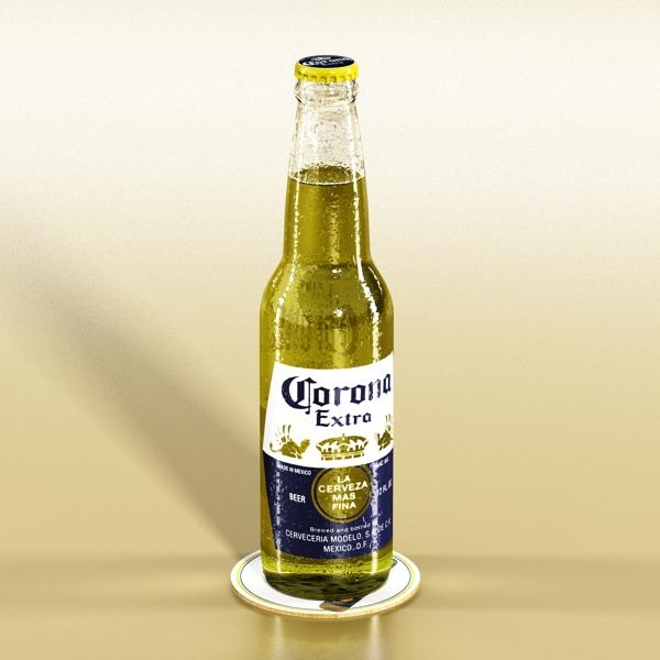 corona beer bottle – 6 pack 3d model 3ds max fbx obj 141111