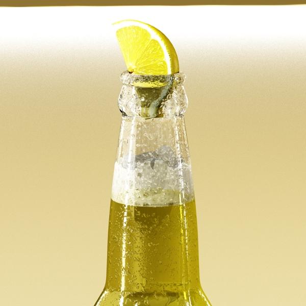 corona bjór flaska - 6 pakki 3d líkan 3ds max fbx obj 141113
