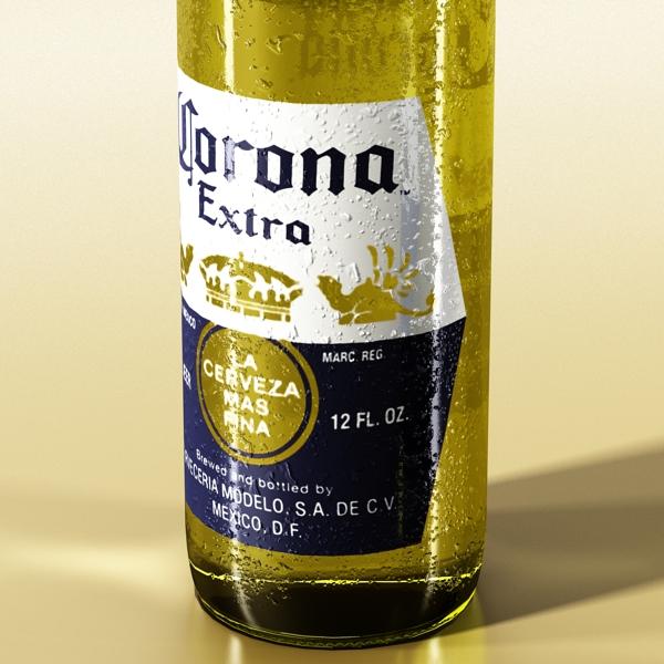 corona bjór flaska - 6 pakki 3d líkan 3ds max fbx obj 141115