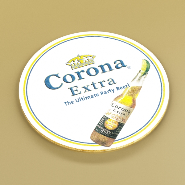 corona bjór flaska - 6 pakki 3d líkan 3ds max fbx obj 141117
