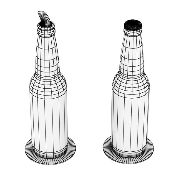 corona bjór flaska - 6 pakki 3d líkan 3ds max fbx obj 141119