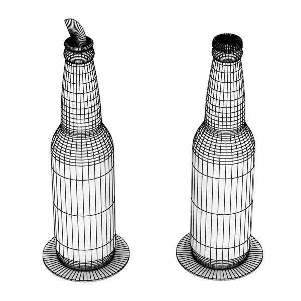 corona bjór flaska - 6 pakki 3d líkan 3ds max fbx obj 141120