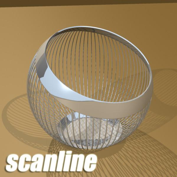 decorative bowl 3d model 3ds max fbx obj 132676