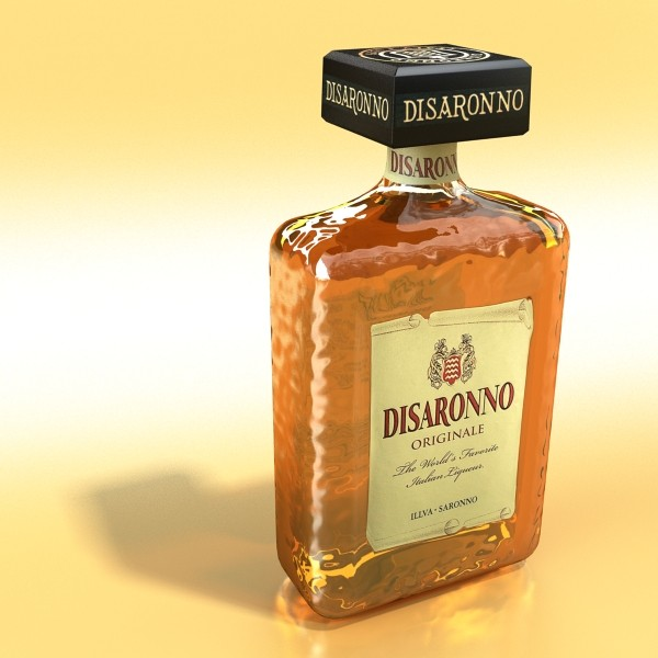 disaronno liquor bottle 3d model 3ds max fbx obj 124424