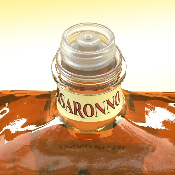 disaronno liquor bottle 3d model 3ds max fbx obj 124426