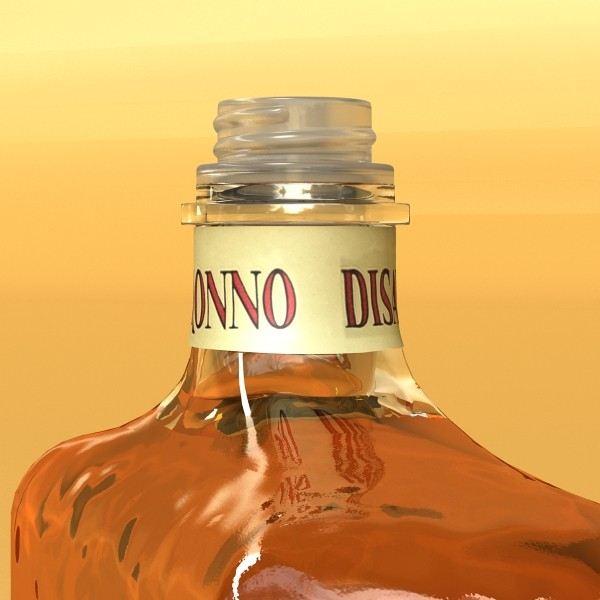 disaronno liquor bottle 3d model 3ds max fbx obj 124427