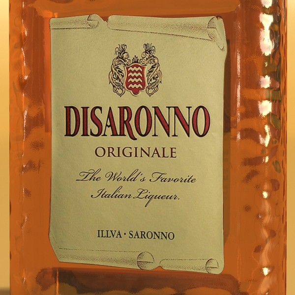 disaronno liquor bottle 3d model 3ds max fbx obj 124428
