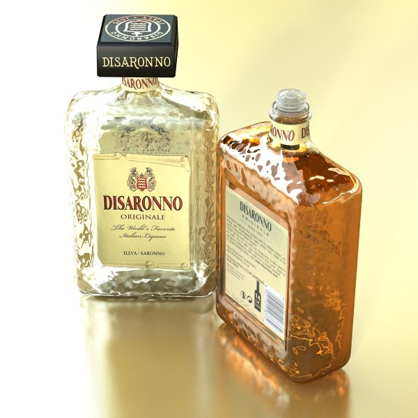 disaronno liquor bottle 3d model 3ds max fbx obj 124429