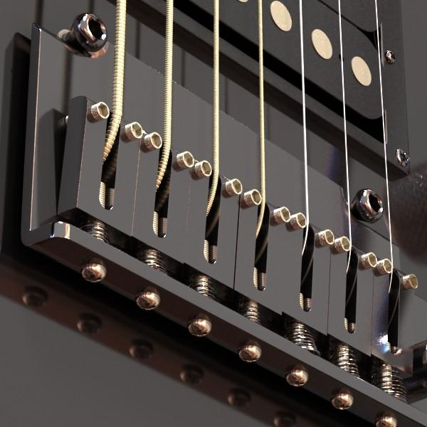 цахилгаан гитар 7 мөр өндөр нарийвчлалтай 3d загвар max obj 131264