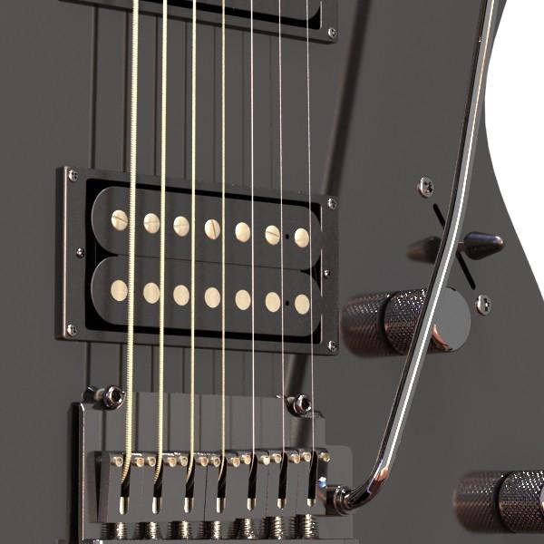 цахилгаан гитар 7 мөр өндөр нарийвчлалтай 3d загвар max obj 131266