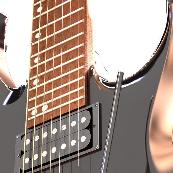 electric guitar 7 strings high detail 3d model max obj 131267