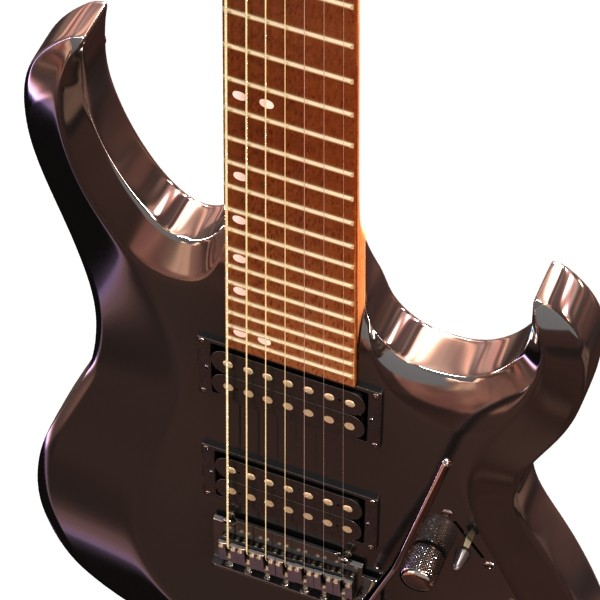 electric guitar 7 strings high detail 3d model max obj 131268