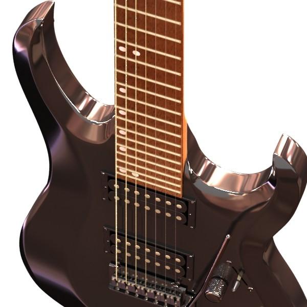 цахилгаан гитар 7 мөр өндөр нарийвчлалтай 3d загвар max obj 131268