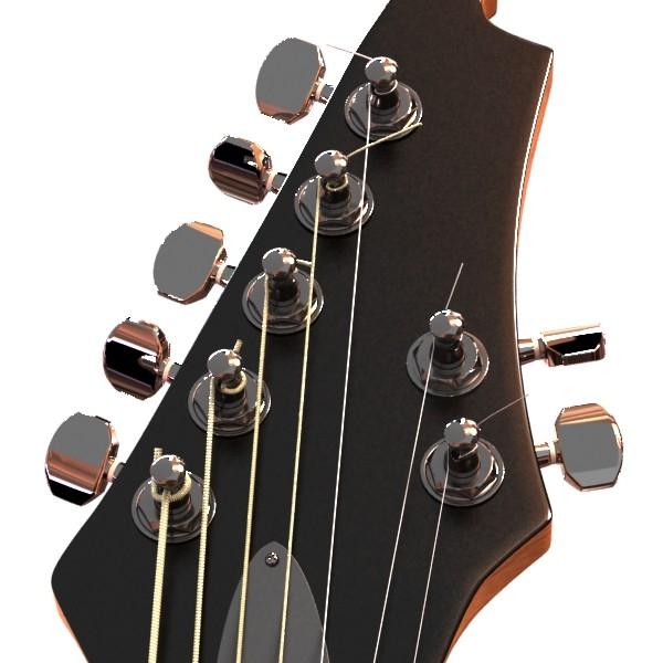 цахилгаан гитар 7 мөр өндөр нарийвчлалтай 3d загвар max obj 131269