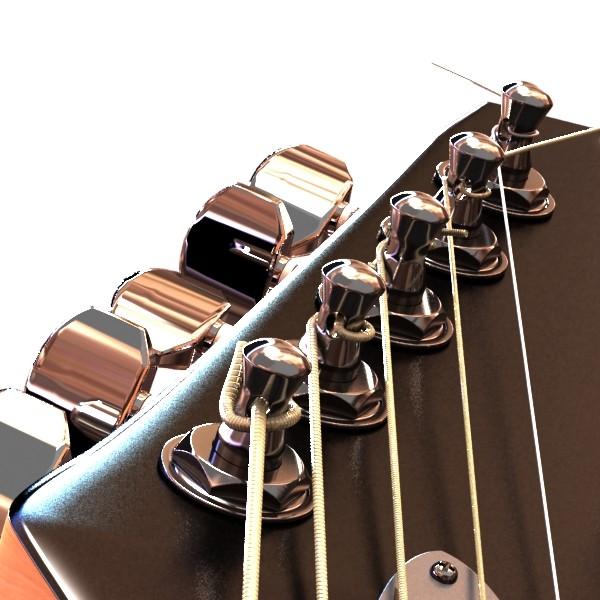 цахилгаан гитар 7 мөр өндөр нарийвчлалтай 3d загвар max obj 131270