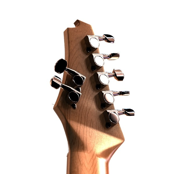 electric guitar 7 strings high detail 3d model max obj 131271