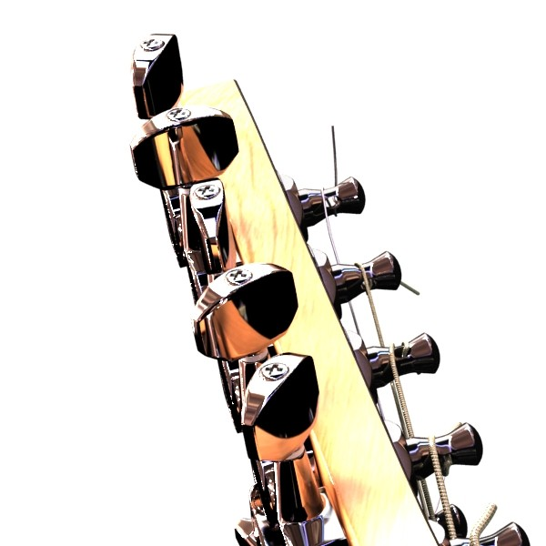electric guitar 7 strings high detail 3d model max obj 131272