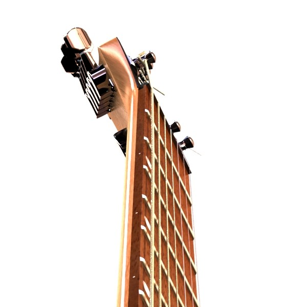 electric guitar 7 strings high detail 3d model max obj 131273