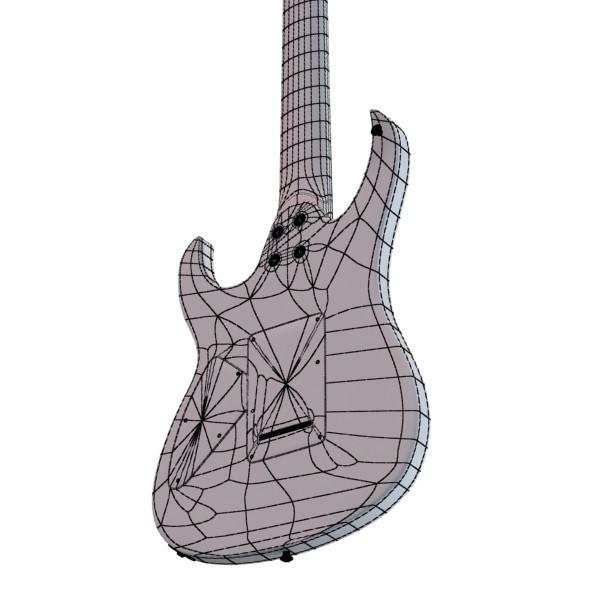 цахилгаан гитар 7 мөр өндөр нарийвчлалтай 3d загвар max obj 131279