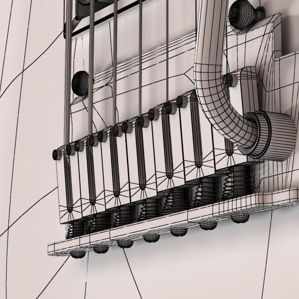 цахилгаан гитар 7 мөр өндөр нарийвчлалтай 3d загвар max obj 131285