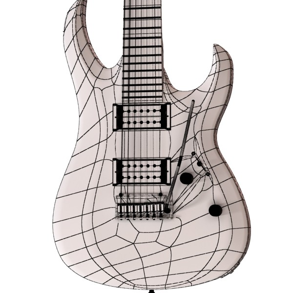 electric guitar 7 strings high detail 3d model max obj 131288