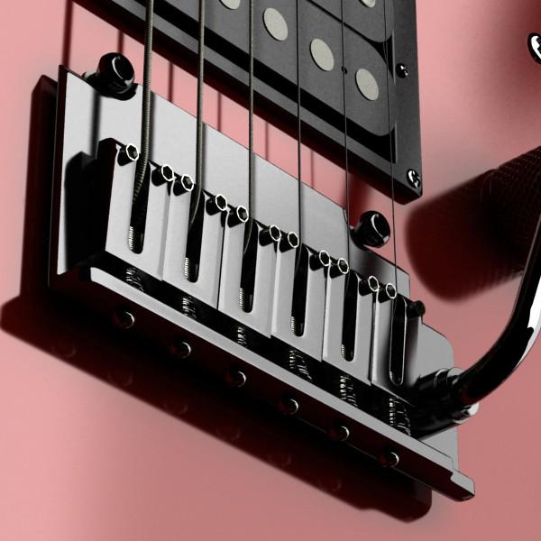 цахилгаан гитар өндөр нарийвчлалтай 3d загвар max fbx obj 131222
