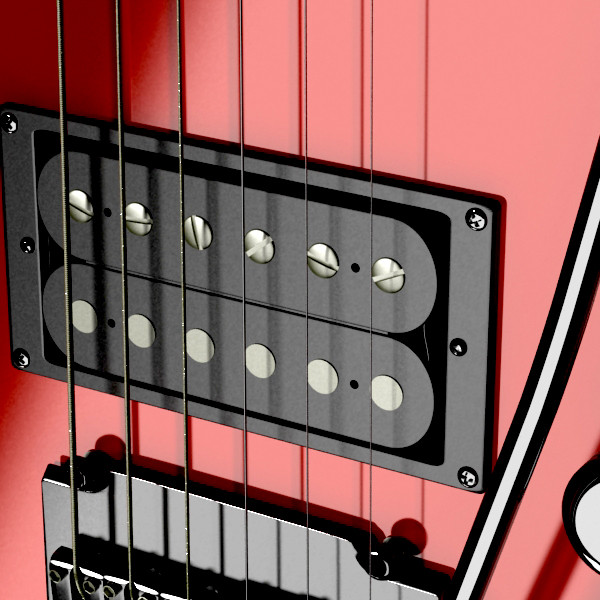 цахилгаан гитар өндөр нарийвчлалтай 3d загвар max fbx obj 131226