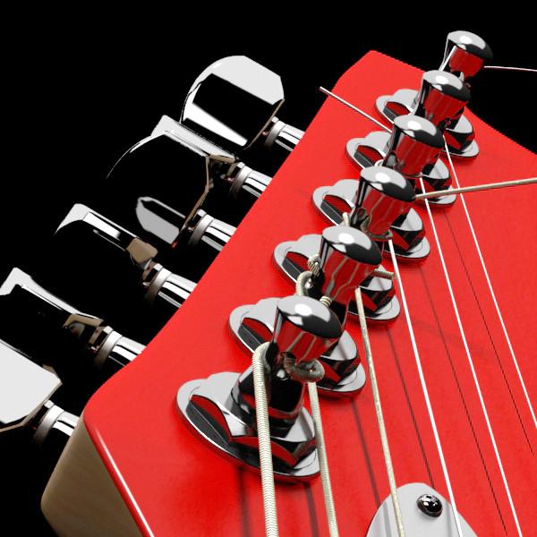 цахилгаан гитар өндөр нарийвчлалтай 3d загвар max fbx obj 131232