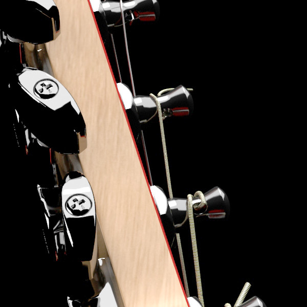 цахилгаан гитар өндөр нарийвчлалтай 3d загвар max fbx obj 131236